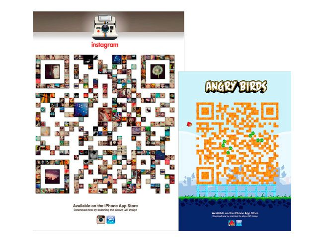 Innovative QR Codes: Instagram & Angry Birds
