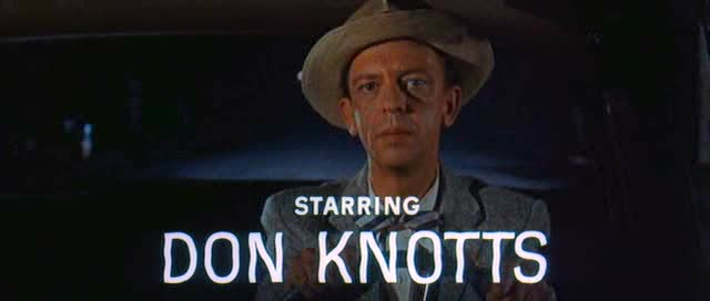 Don Knotts wearing his famous dead-pan look