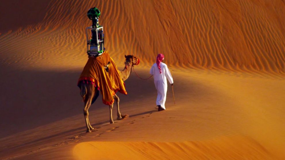 Google Street View with Raffia the Camel